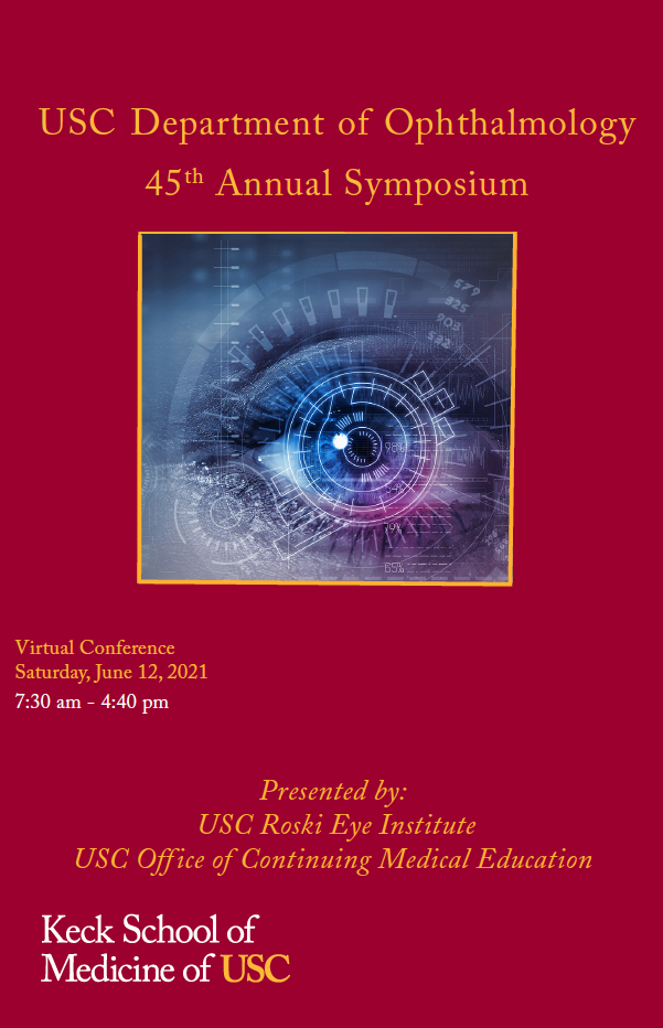 USC Department of Ophthalmology 45th Annual Symposium Banner