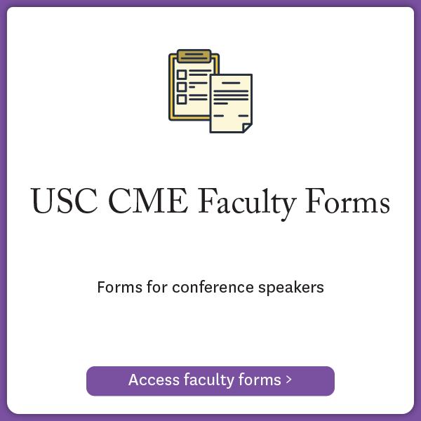 USC CME Faculty Form